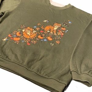 Basic Editions KittenDouble Collar Sweatshirt Sz M